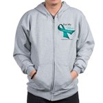 For My Hero Ovarian Cancer Zip Hoodie