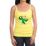 For My Hero Ovarian Cancer Jr. Spaghetti Tank