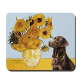 Sunflowers / Choc Lab 11 Mousepad