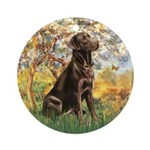 Spring / Choc Lab 11 Ornament (Round)