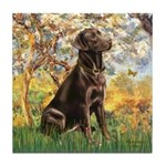 Spring / Choc Lab 11 Tile Coaster