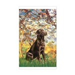 Spring / Choc Lab 11 Sticker (Rectangle)