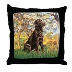 Spring / Choc Lab 11 Throw Pillow