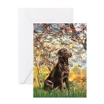 Spring / Choc Lab 11 Greeting Card