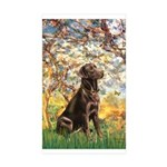 Spring / Choc Lab 11 Sticker (Rectangle 10 pk)