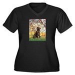 Spring / Choc Lab 11 Women's Plus Size V-Neck Dark