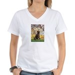 Spring / Choc Lab 11 Women's V-Neck T-Shirt