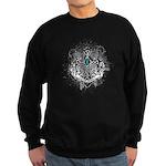 Faith Cross Ovarian Cancer Sweatshirt (dark)