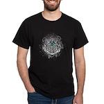 Faith Cross Ovarian Cancer Dark T-Shirt