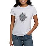 Faith Cross Ovarian Cancer Women's T-Shirt