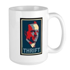 "Calvin Coolidge ""Thrift"" Mug"