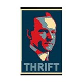 "Calvin Coolidge ""Thrift"" Decal"