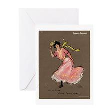Ping Pong Girl Greeting Card