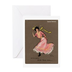 Ping Pong Girl Greeting Card