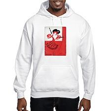 Girl In a Red Dress Hooded Sweatshirt