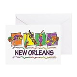 New Orleans Squares Greeting Card