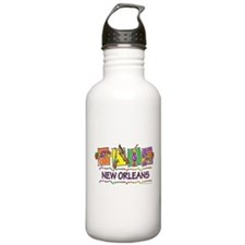 New Orleans Squares Water Bottle