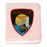 Port Isabel Police baby blanket