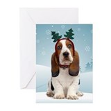 Basset Hound Christmas (Pk of 20)