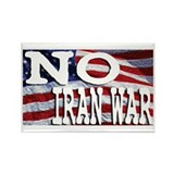 NO Iran War Rectangle Magnet