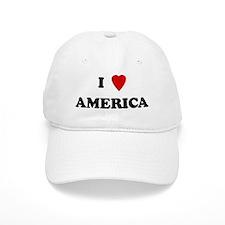 I Love America Baseball Cap