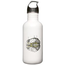grays brain anatomy Water Bottle