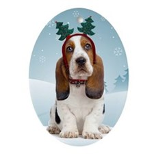 Basset Hound Christmas Ornament