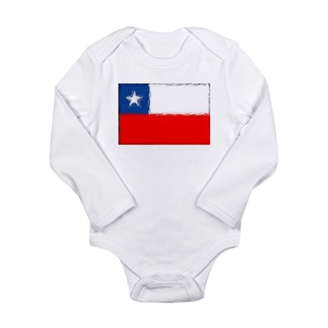 Chilean Flag Long Sleeve Infant Bodysuit
