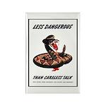 Dangerous Rattlesnake Poster Art Rectangle Magnet