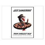 Dangerous Rattlesnake Poster Art Small Poster