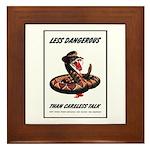 Dangerous Rattlesnake Poster Art Framed Tile