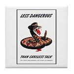 Dangerous Rattlesnake Poster Art Tile Coaster