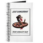 Dangerous Rattlesnake Poster Art Journal