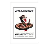 Dangerous Rattlesnake Poster Art Postcards (Packag