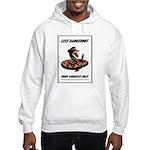 Dangerous Rattlesnake Poster Art Hooded Sweatshirt