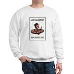 Dangerous Rattlesnake Poster Art Sweatshirt