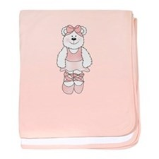 PINK BALLERINA BEAR baby blanket