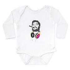 Guevara Loves Music Long Sleeve Infant Bodysuit