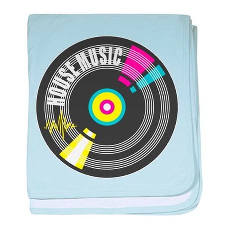 House Music Vinyl baby blanket