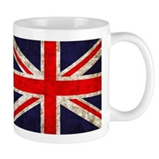 Grunge UK Flag Small Mugs