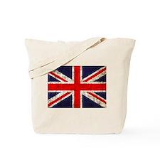Grunge UK Flag Tote Bag