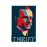 Calvin Coolidge &amp;quot;Thrift&amp;quot; Rectangle Magne