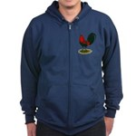Big Red Rooster Zip Hoodie (dark)