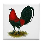 Big Red Rooster Tile Coaster
