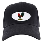 Big Red Rooster Black Cap