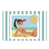 Female Sunbather Postcards (Package of 8)