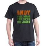 ANDY - The Legend Black T-Shirt