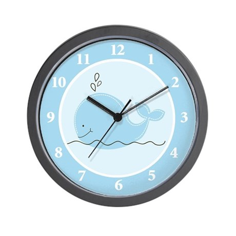 Little Blue Whale Wall Clock