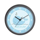 Little Blue Whale Wall Clock - Alexander
