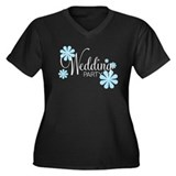Wedding Party Women's Plus Size VNeck Dark T-Shirt